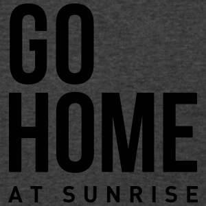 go home at sunrise party club DJ weekend Tanks - Men's V-Neck T-Shirt by Canvas