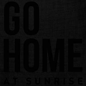 go home at sunrise party club DJ weekend Women's T-Shirts - Bandana