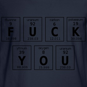 Periodic Table Of Fuck You T-Shirts - Men's Long Sleeve T-Shirt