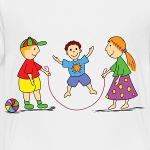 children jump rope - Toddler Premium T-Shirt