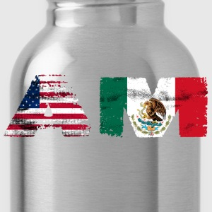 Mexican Mexico Flag Mexican American - Water Bottle