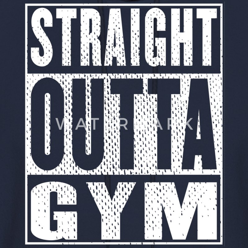 Straight Outta Gym - Men's Hoodie