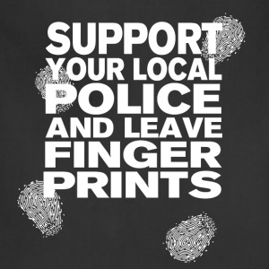 Support your Police Finge T-Shirts - Adjustable Apron