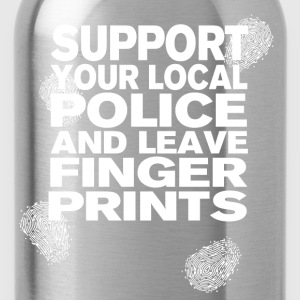 Support your Police Finge T-Shirts - Water Bottle