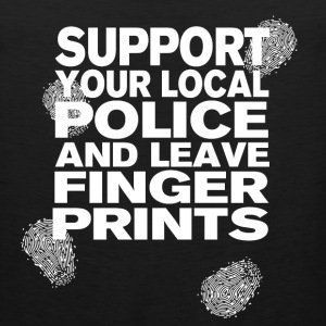 Support your Police Finge T-Shirts - Men's Premium Tank