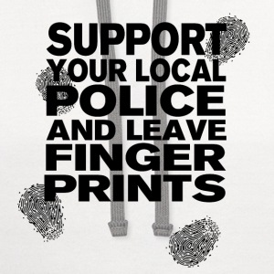 Support your Police Finge T-Shirts - Contrast Hoodie