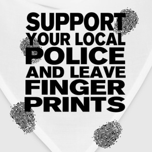 Support your Police with Fingerprints T-Shirts - Bandana