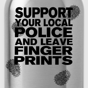 Support your Police with Fingerprints T-Shirts - Water Bottle