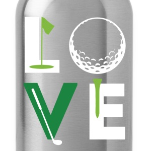 Golfer Love Golf T Shirt T-Shirts - Water Bottle
