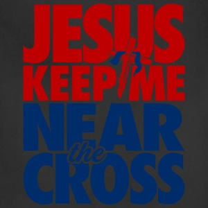 Near The Cross, Red & Blue - Adjustable Apron