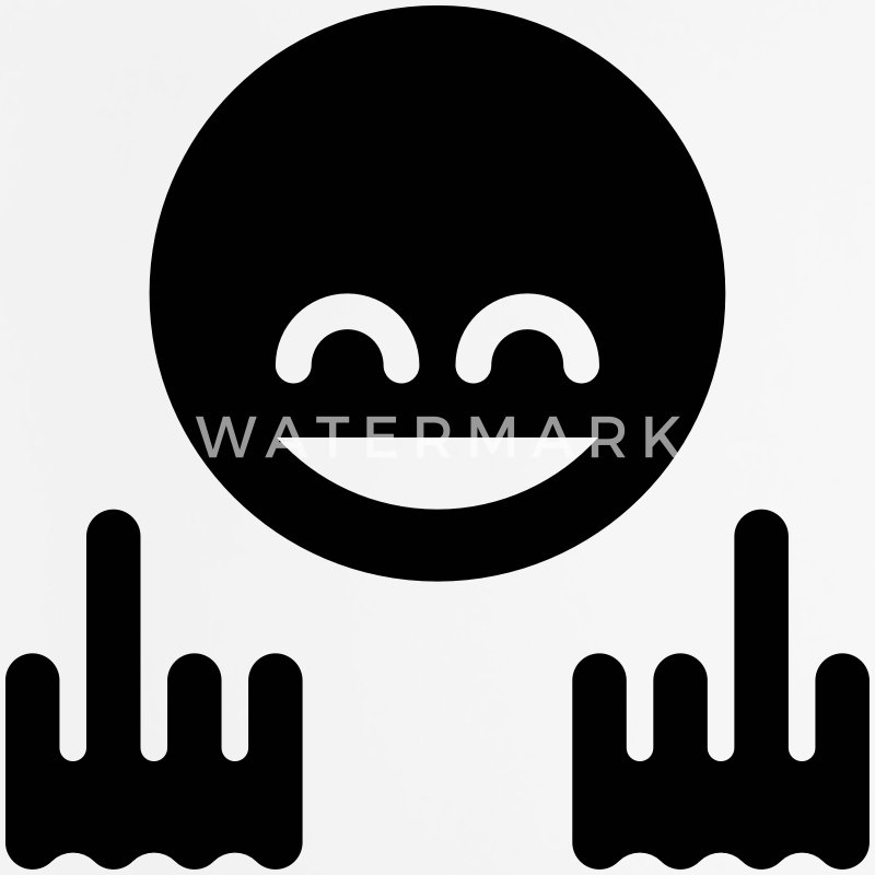 Show The Finger Emoticon (Fuck Off / Fuck You) Other - Mouse pad Vertical