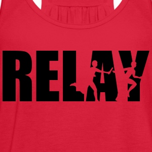 Relay Women's T-Shirts - Women's Flowy Tank Top by Bella