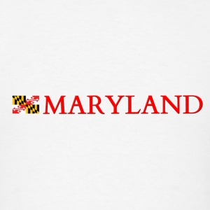 Maryland with Flag Tanks - Men's T-Shirt
