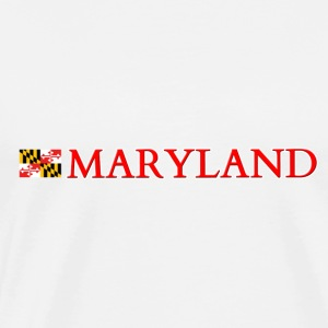 Maryland with Flag Tanks - Men's Premium T-Shirt