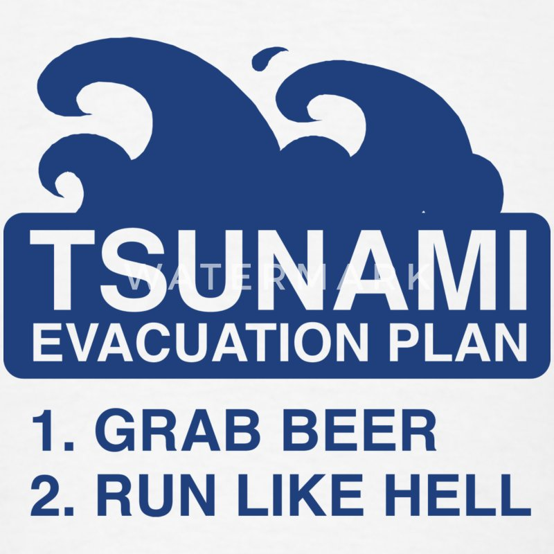 Tsunami Evacuation Plan - Men's T-Shirt