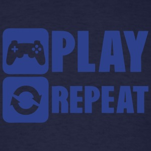 geek repeat play game joystick Hoodies - Men's T-Shirt