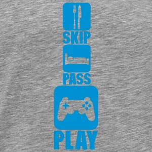 geek skip pass play games joystick 2 Sportswear - Men's Premium T-Shirt