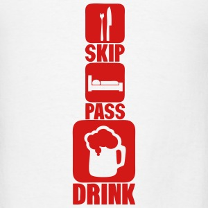 skip pass drink alcohol beer humor 2 Tanks - Men's T-Shirt
