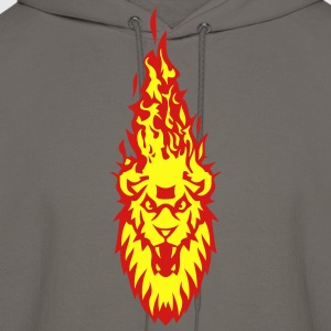 fire flame head lion 310 T-Shirts - Men's Hoodie