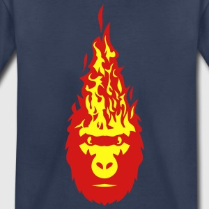 gorilla fire flame head 3102 Kids' Shirts - Toddler Premium T-Shirt