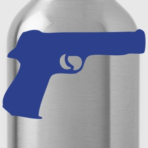gun revolver 307 Kids' Shirts - Water Bottle