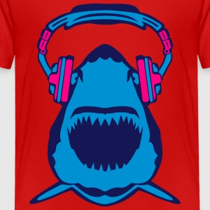 shark jaws audio music headphones skull Kids' Shirts - Toddler Premium T-Shirt