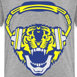 tiger mouth audio music headphones skull Kids' Shirts - Toddler Premium T-Shirt