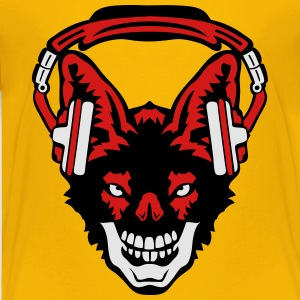 jackal audio music skull headphones face Kids' Shirts - Toddler Premium T-Shirt