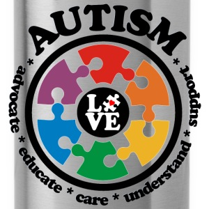 LOVE Autism Awareness - Tote Bag - Water Bottle