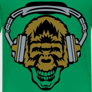 gorilla face audio skull music headphone Kids' Shirts - Toddler Premium T-Shirt