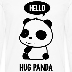 Panda Hello - Men's Premium Long Sleeve T-Shirt
