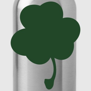 Men's Plain Clover Green Tee White Clover - Water Bottle
