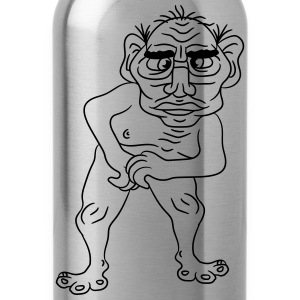 naked ugly disgusting old man grandpa monster trol T-Shirts - Water Bottle