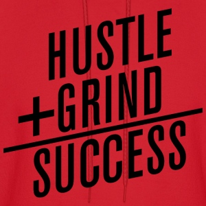 HUSTLE+GRIND=SUCCESS Long Sleeve Shirts - Men's Hoodie