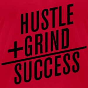 HUSTLE+GRIND=SUCCESS Long Sleeve Shirts - Men's T-Shirt by American Apparel