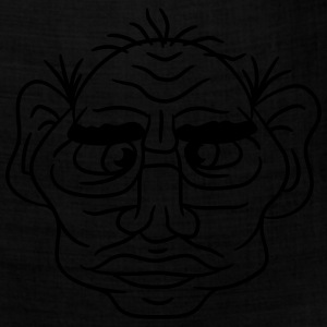 face head ugly disgusting old man grandpa monster  T-Shirts - Bandana