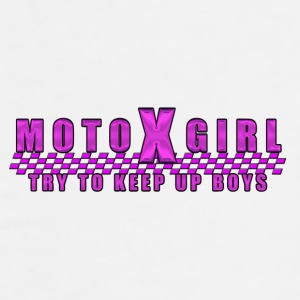 Moto X Girl - Men's Premium T-Shirt