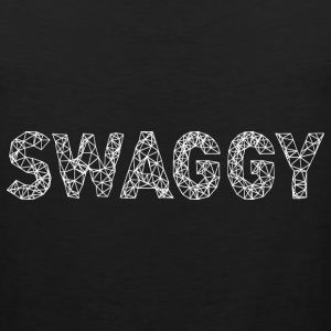 Swaggy White T-Shirts - Men's Premium Tank