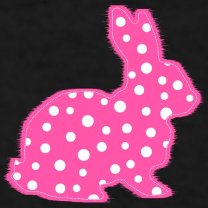Pink Polka Dots Bunny Mugs & Drinkware - Men's T-Shirt