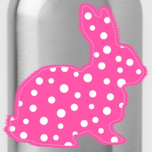 Pink Polka Dots Bunny Kids' Shirts - Water Bottle