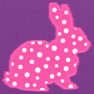 Pink Polka Dots Bunny Kids' Shirts - Tote Bag