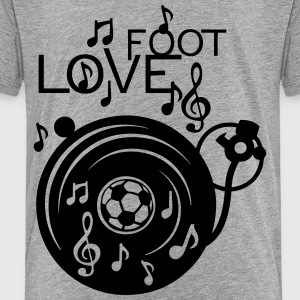 love soccer turntable turns 33 music not Kids' Shirts - Toddler Premium T-Shirt