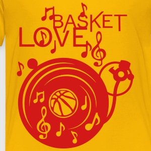 love basketball turntable turns 33 music Kids' Shirts - Toddler Premium T-Shirt