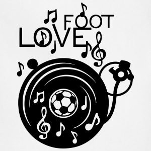love soccer turntable turns 33 music not Hoodies - Adjustable Apron