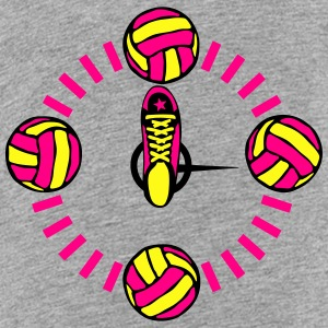 clock hand sports shoes volleyball ball Kids' Shirts - Toddler Premium T-Shirt