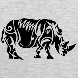 tattoo tribal rhino 402 T-Shirts - Men's Premium Tank
