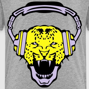 leopards audio music headphones skull Kids' Shirts - Toddler Premium T-Shirt
