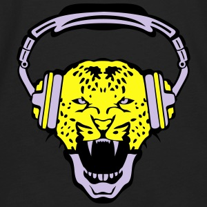 leopards audio music headphones skull Hoodies - Men's Premium Long Sleeve T-Shirt