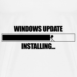 Windows Update VS Stickman  - Men's Premium T-Shirt