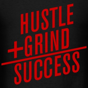HUSTLE+GRIND=SUCCESS Long Sleeve Shirts - Men's T-Shirt